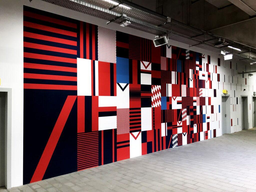 Vasas (Illovszky Stadion) Sportlétesítmény festés- HOEK Murals